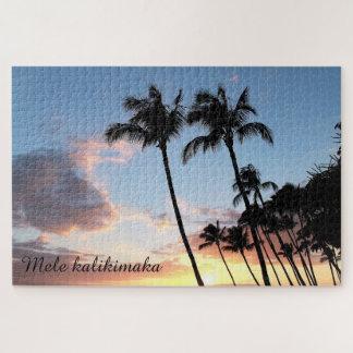 Hawaiisches Palme-Weihnachtspuzzlespiel Puzzle