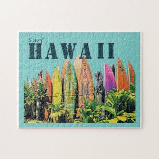 Hawaiisches Surfbrett-Zaunpuzzlespiel Puzzle