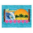 Hawaiisches Surfen Postkarte