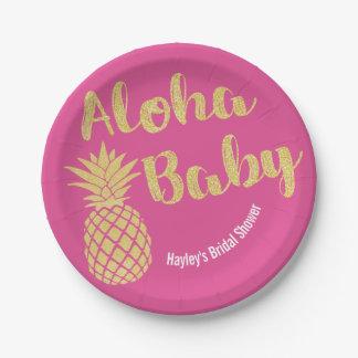 Hawaiisches Themed Party-Teller-Brautdusche Pappteller