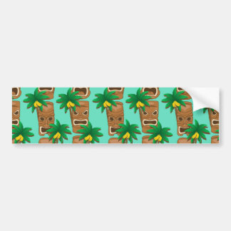 Hawaiisches Tiki Wiederholungs-Muster Autoaufkleber