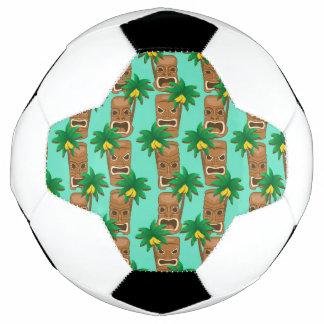 Hawaiisches Tiki Wiederholungs-Muster Fußball