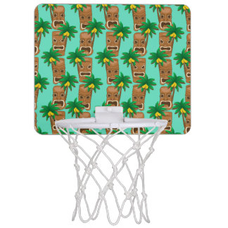Hawaiisches Tiki Wiederholungs-Muster Mini Basketball Netz