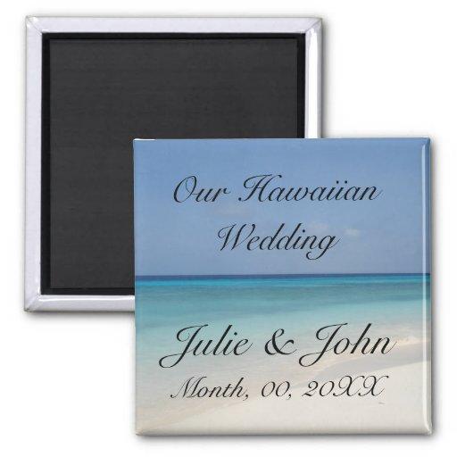 Hawaiisches Wedding Save the Date Kühlschrankmagnet