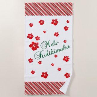 Hawaiisches Weihnachten~ Mele Kalikimaka Strandtuch
