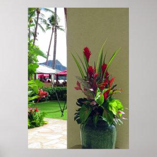 Hawaiisches Weihnachten Poster