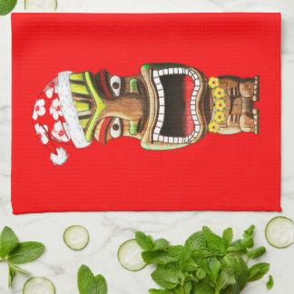 Hawaiisches Weihnachten Sankt Tiki Geschirrtuch