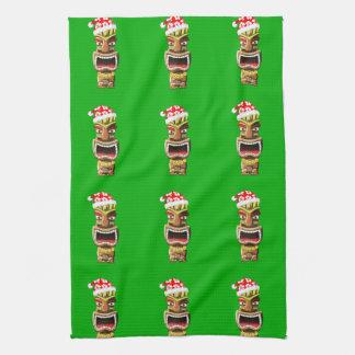 Hawaiisches Weihnachten Sankt Tiki Handtuch