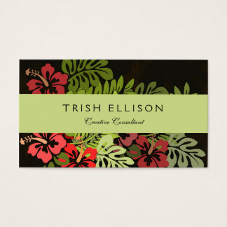 Hawaiisurfer-Aloha Blumen-Kunst-Druck mit Blumen Visitenkarte