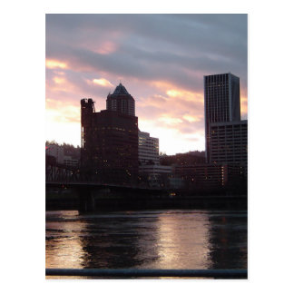 Hawthorne Brücken-Portland-Skyline Postkarte