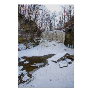 Hayden Lauf fällt in Winter, Columbus, Ohio Poster