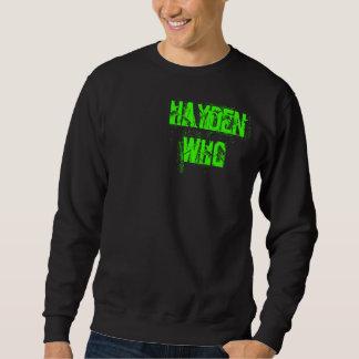 HaydenWho langes Hülsen-Schwarzes Sweatshirt