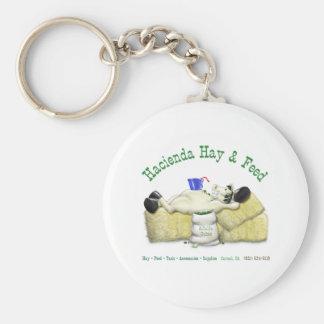 Hazienda-Heu u. füttert entspanntes Pferd Standard Runder Schlüsselanhänger