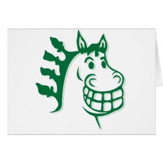 Hazienda-Heu u. füttert grünes Pferd Grußkarte