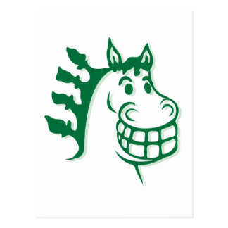 Hazienda-Heu u. füttert grünes Pferd Postkarte