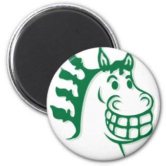 Hazienda-Heu u. füttert grünes Pferd Runder Magnet 5,7 Cm