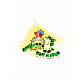 Hazienda-Heu u. füttert Kinder Postkarte