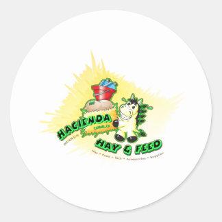 Hazienda-Heu u. füttert Kinder Runder Aufkleber