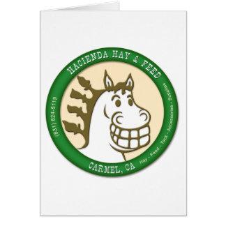 Hazienda-Heu u. füttert Logo Grußkarte