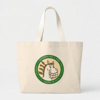 Hazienda-Heu u. füttert Logo Jumbo Stoffbeutel