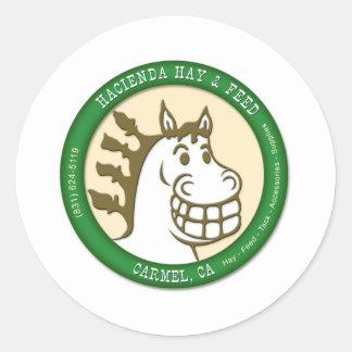 Hazienda-Heu u. füttert Logo Runder Aufkleber