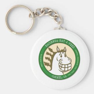Hazienda-Heu u. füttert Logo Standard Runder Schlüsselanhänger