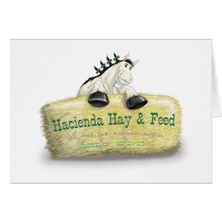 Hazienda-Heu u. füttert Stroh-Ballen Grußkarte