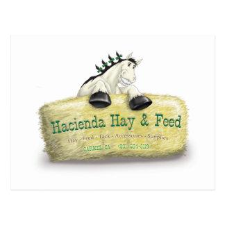 Hazienda-Heu u. füttert Stroh-Ballen Postkarten