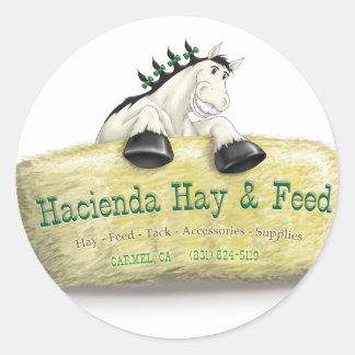 Hazienda-Heu u. füttert Stroh-Ballen Runder Aufkleber