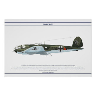 He-111 KG1 1 Poster