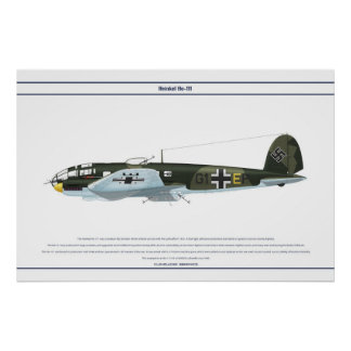 He-111 KG55 1 Poster