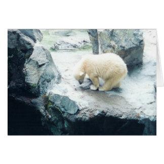 He dass bin ich Eisbär-Babykarte Karte