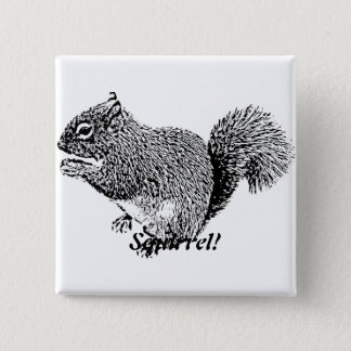 He Eichhörnchen Quadratischer Button 5,1 Cm