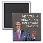 He, ist Zugwrack, dieses nicht Ihre Station Quadratischer Magnet