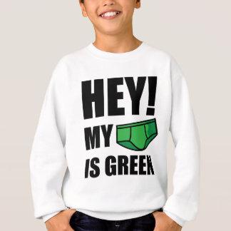 HE! Meine Unterwäsche ist grün! Sweatshirt