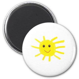 He Sonnenschein Runder Magnet 5,7 Cm