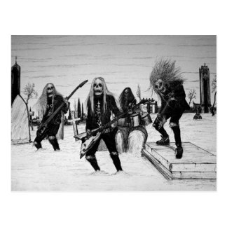 Headbanger Postkarte