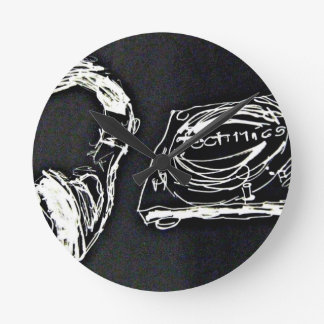 Headphone and DJ Turntable MK2 Runde Wanduhr
