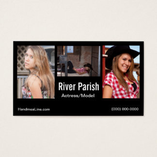 Headshot-Visitenkarte-Modelle oder Schauspieler Visitenkarte