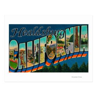Healdburg, Kalifornien - große Buchstabe-Szenen Postkarte
