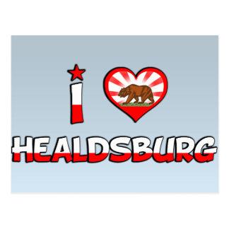 Healdsburg, CA Postkarte