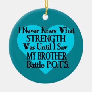 Heart/I kannte nie… Bruder… P.O.T.S. Rundes Keramik Ornament