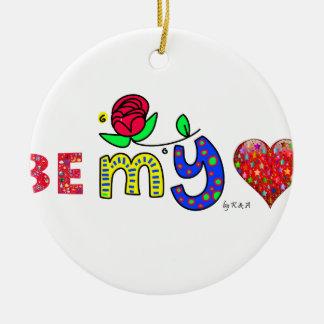 Heart sieht my keramik ornament