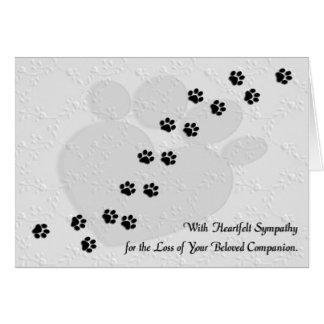 Heartfelt Hunde-oder Katzen-Haustier-Beileid Grußkarte