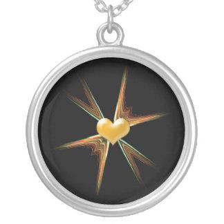Heartful Star Halskette Mit Rundem Anhänger