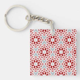 Heartmix/Quadrat (doppelseitiges) Keychain Schlüsselanhänger