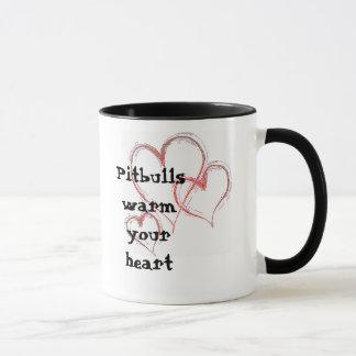 hearts-1474, Pitbulls wärmen Ihr Herz Tasse