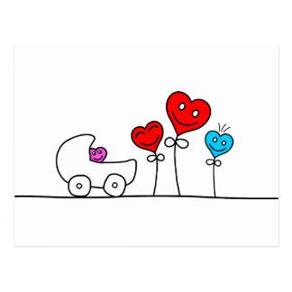 Hearts Family Postkarte