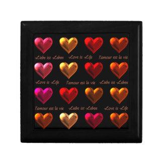 Hearts Kleine Quadratische Schatulle