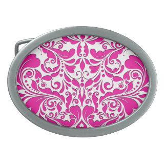 HeartyParty rosa magentarotes und weißes Ovale Gürtelschnallen